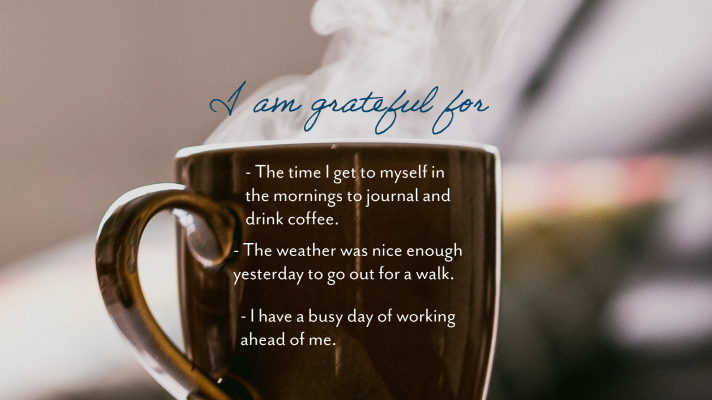Reaping the Benefits of a Gratitude Journal